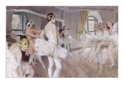 The French Academie De Musique Et De Danse Rehearsing Coppelia - Mlle Zambelli in Pink