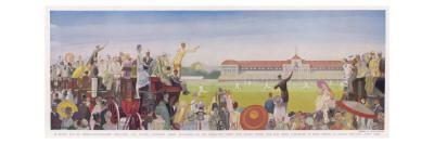 sunny Day at Lords' by Ernest Wallcousins