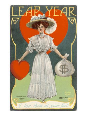 The Chance of Love and Money on a Card Celebrating a Leap Year