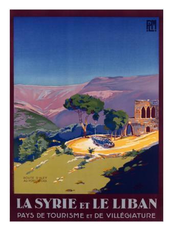 Syria and Lebanon Holiday Poster