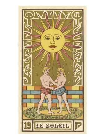 The Sun Depicted on a Tarot Card