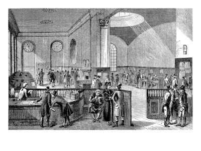 The Subscription Room at Lloyd's of London, 18th Century
