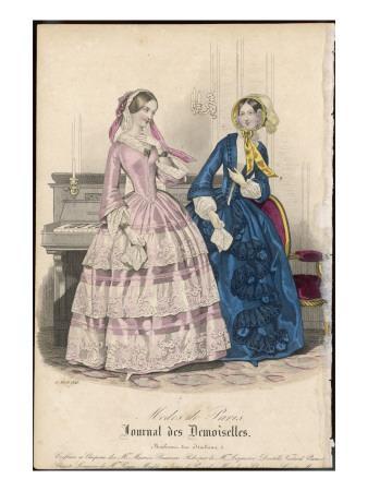 Two Ladies in Indoor Dresses