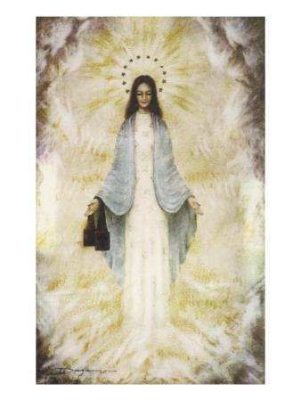 The Virgin Mary as Supposedly Seen by the Visionaries at Garabandal, Northern Spain