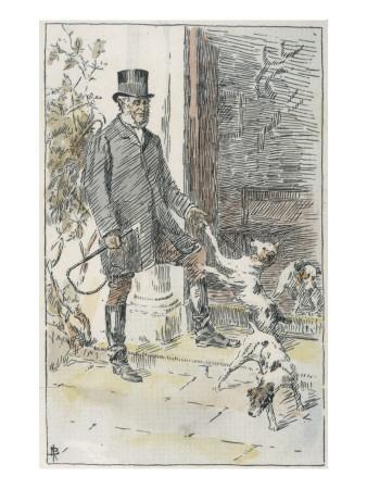 The Reverend John Russell with Some of the Terriers Which Came to Be Named for Him