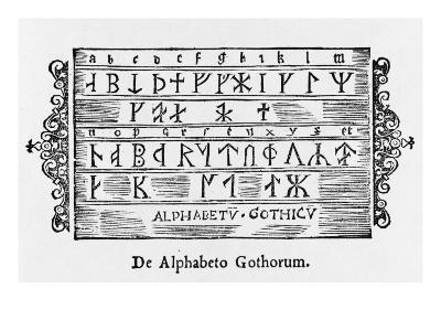 The Rune Alphabet of the Gothici, Sweden