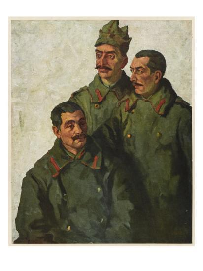 Three Jewish Romanian Soldiers Fighting the Austrians During World War One