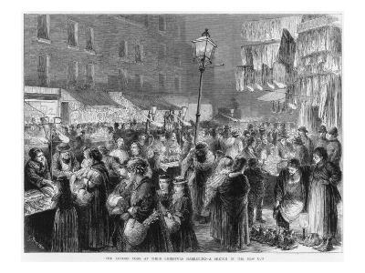 The Poor of London Doing their Christmas Shopping