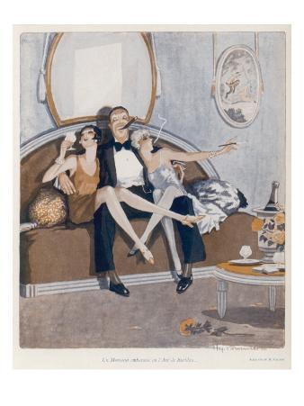 Threesome on the Sofa