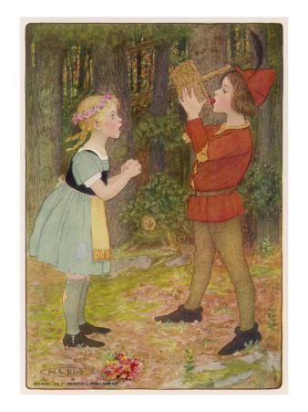 The Two Children in the Forest - Gretel Is Shocked When Hansel Eats the Strawberries