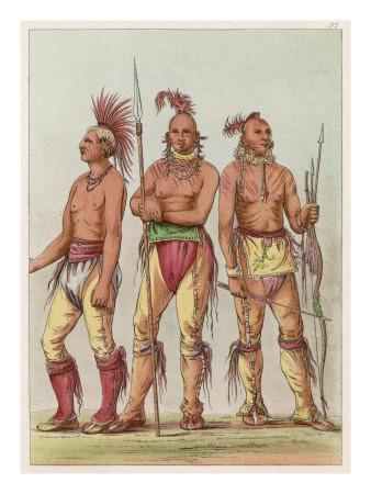 Three Osage Warriors