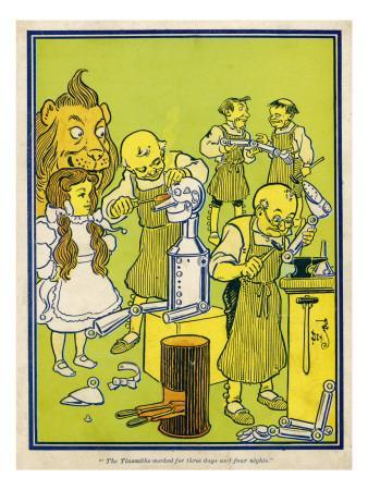 The Winkie Tinsmiths Work for Three Days and Four Nights to Repair the Tin Woodman