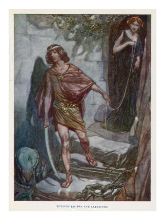 Theseus Enters Labyrinth