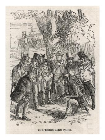 The Three Card Trick, 1860