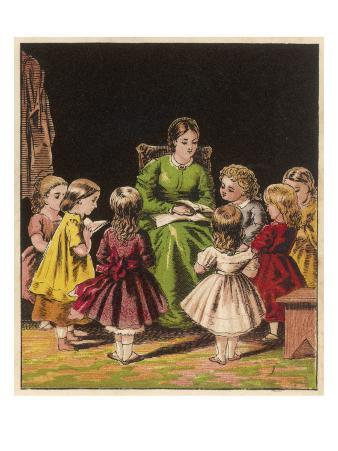 The Teacher Reads an Improving Story to the Children