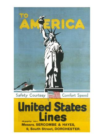 United States Lines Poster