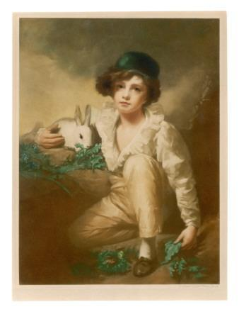 Young Boy with Rabbit