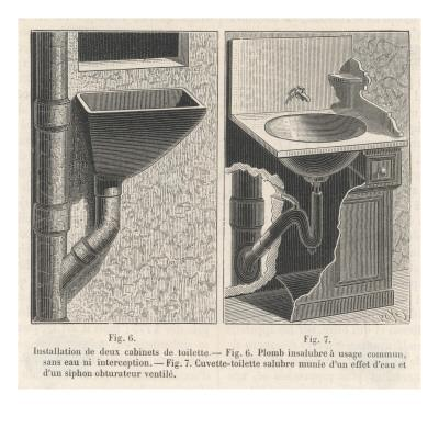 Diagram Showing Installation of a Sink