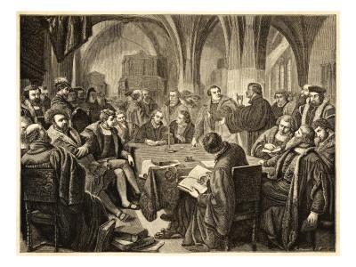 Ulrich Zwinglir in October 1529 Controversy with Martin Luther at Marburg