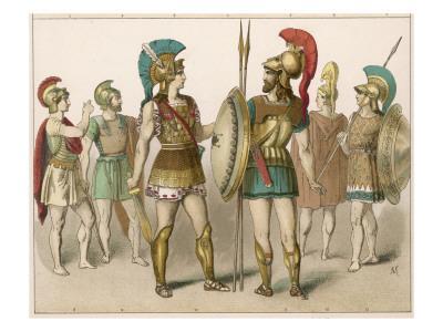 Various Greek Costumes: Warriors