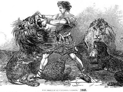 Isaac Van Amburgh and His Lions, London, 1848