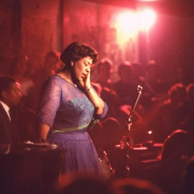 "Jazz Singer Ella Fitzgerald Performing at ""Mr. Kelly's"" Nightclub"