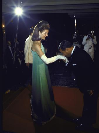 Jacqueline Kennedy Accepting a Kiss on the Hand from Cambodian Prince Norodom Sihanouk