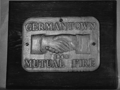 A Medallion of the Philadelphia Fire Insurance Association, the Mark of Germantown