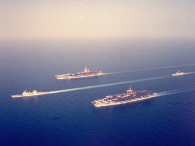 US Warships Underway in US-Led Allied Gulf War Mission in Persian Gulf