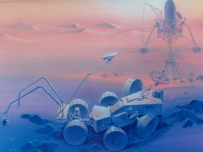 Mars Rover Vehicle to Be Used Sometime in Late 1990s on Mission to Explore