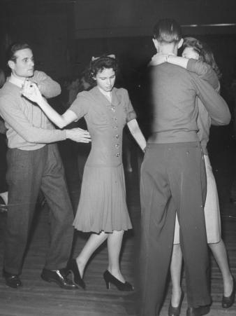 """Swing Shift"" Workers of Lockheed-Vega Aircraft Plant Dancing"