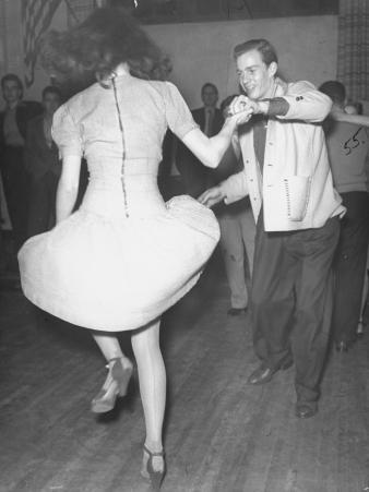 An Aircraft Worker Swing Dancing at the Lockheed Swing Shift Dance