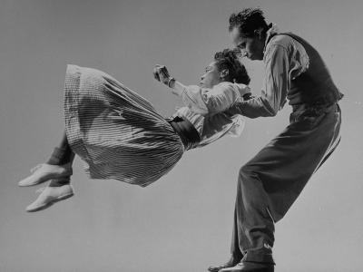 Leon James and Willa Mae Ricker Demonstrating a Step of the Lindy Hop