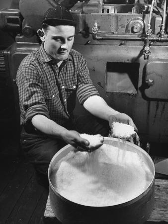 Man Working with Molded Plastics at Barton Molding Co