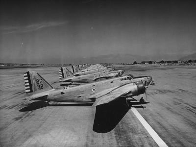 Douglas B18 Bombers Resting at the Airport