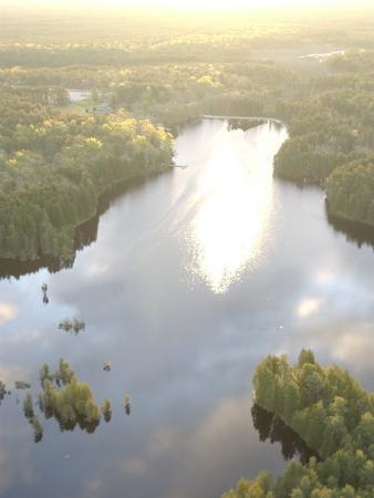 New Jersey, Pine Barrens, the Sun Rises over Lake Atsion in the Pine Barrens
