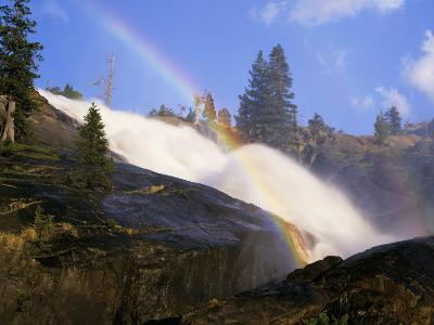 Rainbow Appears in the Mist of Waterwheel Falls