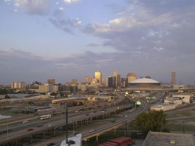 Louisiana, New Orleans, the City's Skyline at Sunset
