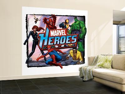 Marvel Heroes: Black Panther, Wasp, Spider-Man, Daredevil, Wolverine, Hulk, Luke Cage