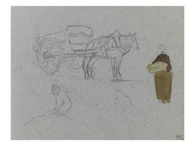 A Cart Pulled by a Horse and Wearing a Peasant Cart