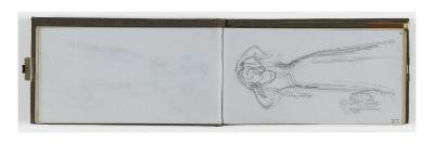 Album: Blank Sheet; Study of Female Figure Standing