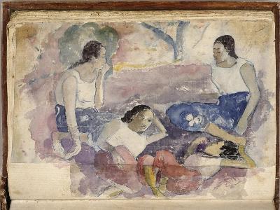 Album Noa Noa: Tahitian Women Seated in a Landscape