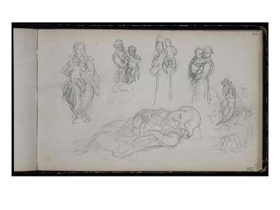 Album: Studies of Women and Children, Infant Sleeping