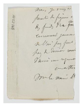 Fragment of a Letter Inside the Bellows of the Album