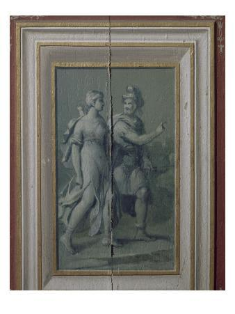 "Gray Bottom Panels the Salon Louis Xiii: ""A Couple"""