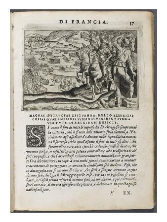 "Book: Pages ""Esequie Arrigo Iv ..."" Giuliano Giraldi"
