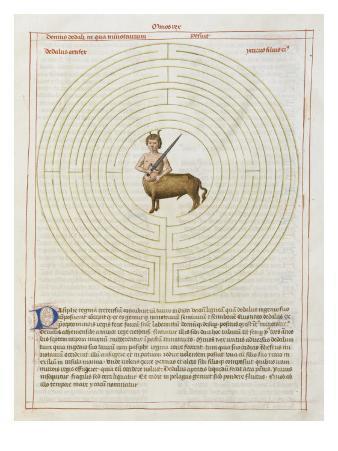 Liber Floridus by Lambert of Saint-Omer: Labyrinth