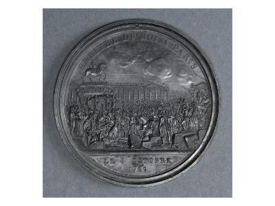 Medal: Arrival of Louis Xvi in Paris, October 6, 1789