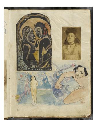 Noa-Noa Album: Tahitian Women and Couples in Nature