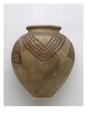 Ovoid Vase Without Handles Decorated with Figurative
